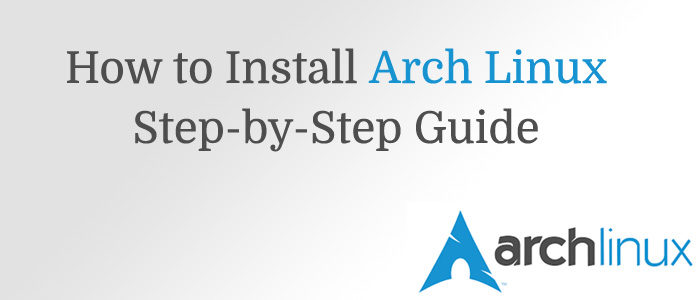 arch linux uefi install guide