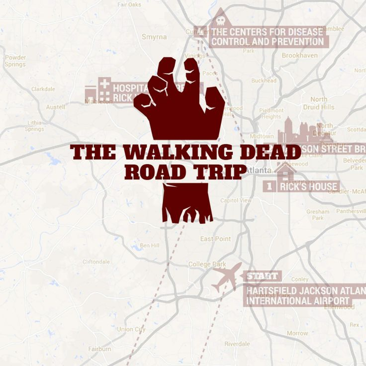 walking dead self guided tour